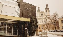 trnavská univerzita zasnežená