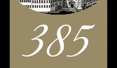 logo 385 rokov Trnavskej univerzity, autor Tibor Záhorec