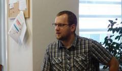 hosť a prednášajúci Marek Mikušiak z Pedagogickej fakulty TU
