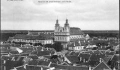 Letecký pohľad na Trnavu zo začiatku 20. storočia